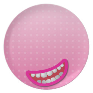 LOL laughing mouth with teeth cute! Plate