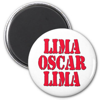 LOL Lima Oscar Lima Laugh Out Loud 2 Inch Round Magnet