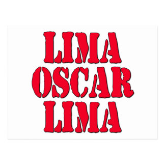 LOL Lima Oscar Lima Laugh Out Loud Postcard