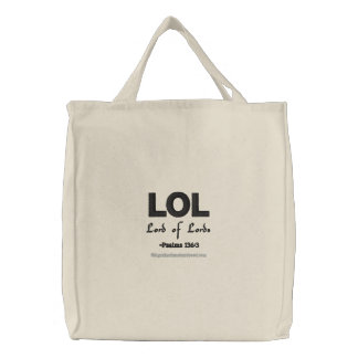 LOL Lord of Lords Embroidered Tote Bag