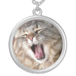 LOL Maine Coon Round Pendant Necklace