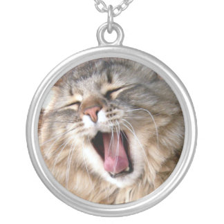 LOL Maine Coon Silver Plated Necklace