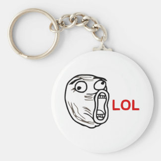 LOL Meme Basic Round Button Keychain