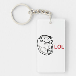 LOL meme Single-Sided Rectangular Acrylic Keychain