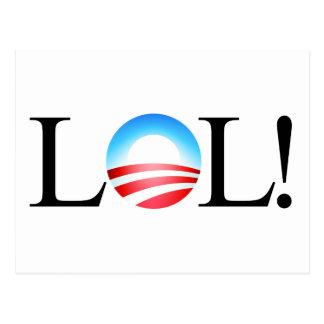 LOL Obama Postcard