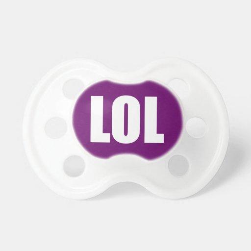 LOL on Purple Pacifier