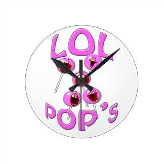 lol pops round clock