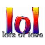 LOL (porciones de amor) Tarjeta Postal