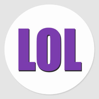 LOL purple Classic Round Sticker