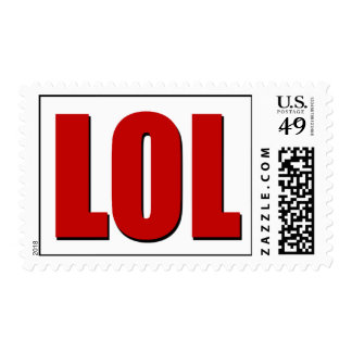 LOL red Postage