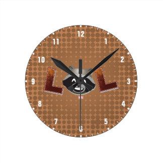 LOL Rocket Emoji Round Clock