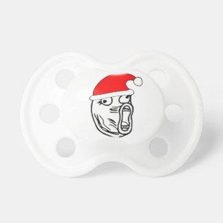 LOL Santa - meme del Internet de Navidad Chupetes De Bebe