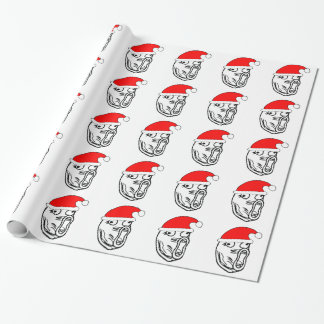 LOL Santa - xmas internet meme Wrapping Paper