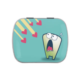 LOL scared monster falling hearts anti-Valentines Candy Tins