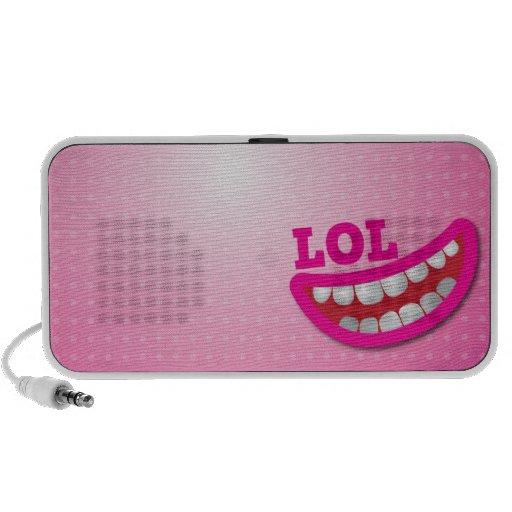 LOL smile laughing speakers