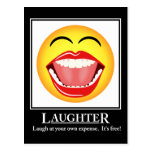 LOL Smiley Face Laughter Motivational Post Card Postcard