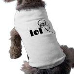 lol stick man dog tee shirt
