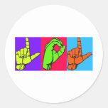 LOL Warhol ASL Sign Language Design #2 Sticker