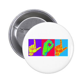 LOL Warhol ASL Sign Language Design Pins