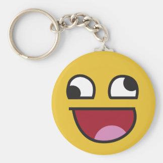 lol. wonky eyes emoji keychain