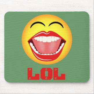 LOL Yellow Smiley Face Fun Mousepad Mousemat