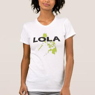 Lola con el mapa de Filipinas Camiseta