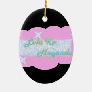 Lola ko Maganda,  My Beautiful Grandmother Ceramic Ornament