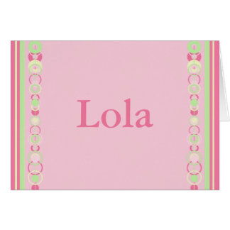 Lola Modern Circles Custom Name Card