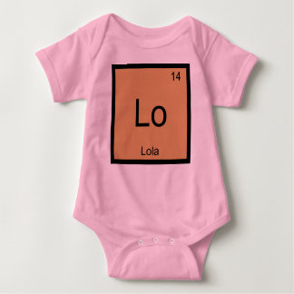 Lola  Name Chemistry Element Periodic Table T-shirt