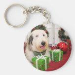 Lola - perro pastor inglés viejo - Donohoo Llavero Personalizado