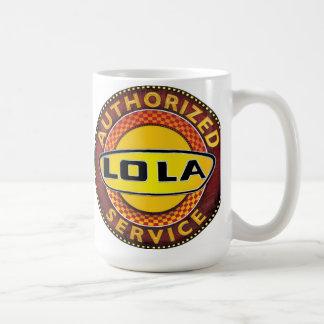 LOLA race cars service sign Classic White Coffee Mug