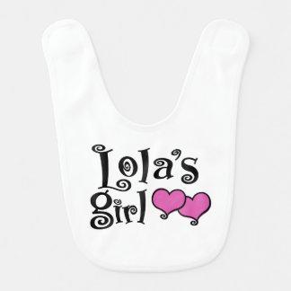 Lola's Girl Baby Bib