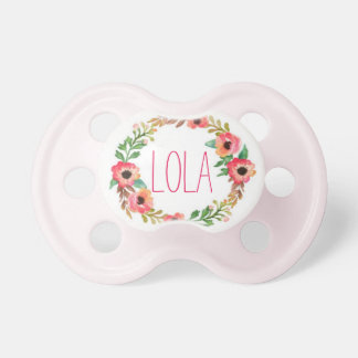 """""""Lola"""" Simple & Elegant Personalized Name Pacifier"""