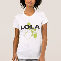 Lola with Philippines Map t-shirt