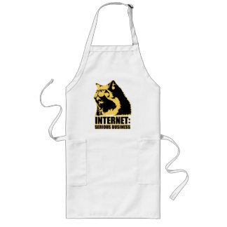 lolcat the internet is serious business long apron