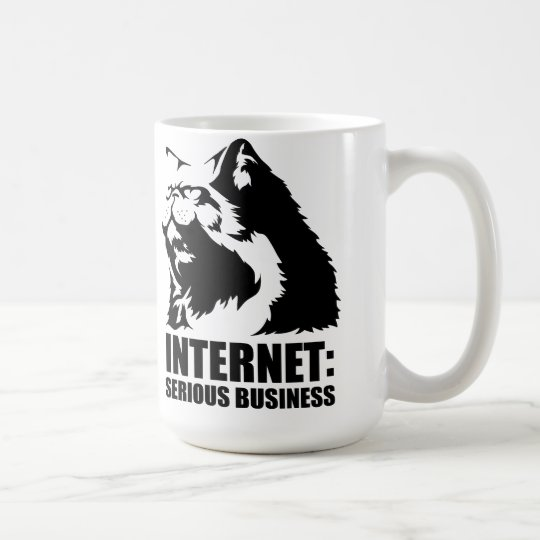 lolcat the internet is serious business coffee mug