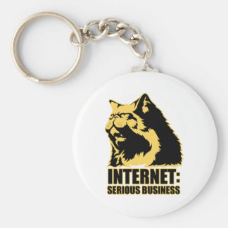 lolcat the internet is serious business key chain