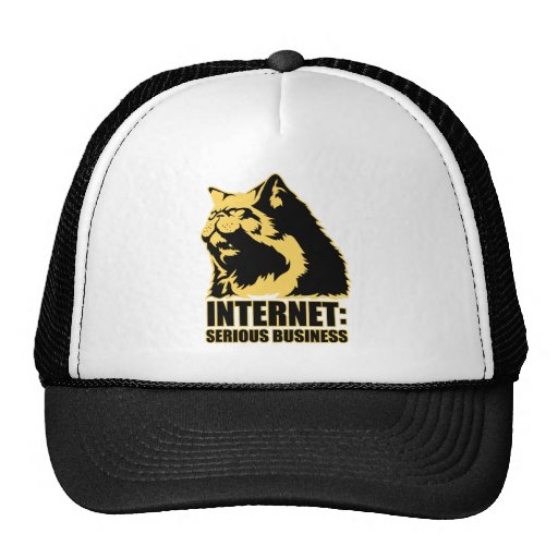 lolcat the internet is serious business mesh hat