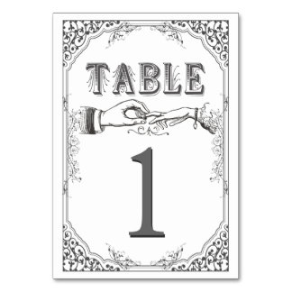 LOld time Victorian table numbers Card