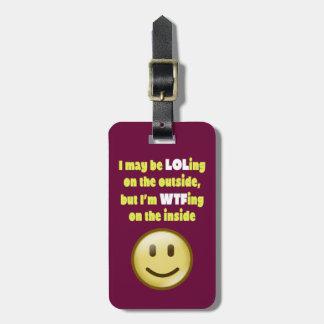 LOLing en la etiqueta exterior del equipaje Etiqueta De Equipaje