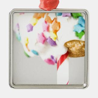 Lolipop Cookie With Sprinkles Metal Ornament