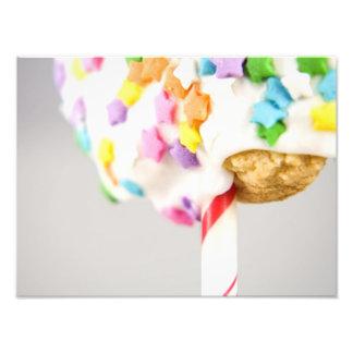 Lolipop Cookie With Sprinkles Photo Print