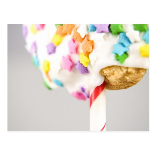 Lolipop Cookie With Sprinkles Post Card