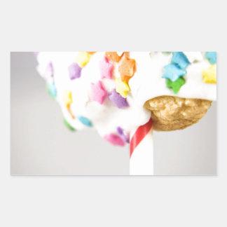 Lolipop Cookie With Sprinkles Rectangular Sticker