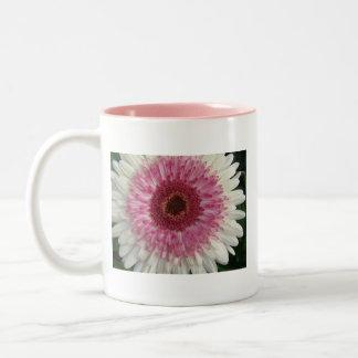 Lolipop Gerbera Daisy Two-Tone Coffee Mug