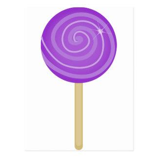 Lolipop_Purple Tarjeta Postal