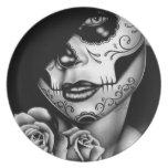 Lolita Day of the Dead Girl Melamine Plate