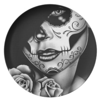 Lolita Day of the Dead Girl Party Plate