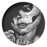 Lolita Day of the Dead Girl Plate