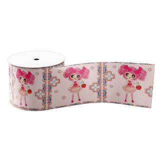 Lolita del dulce de PinkyP del chica de Kawaii Lazo De Tela Gruesa